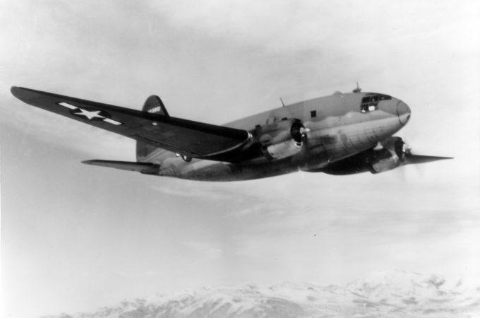 """Curtis C-46 """"Commando"""" in flight"""